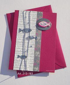 Einladungskarten - Kommunion Konfirmation Einladung Karte - ein Designerstück von happy-papers bei DaWanda