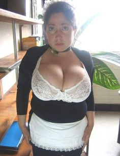 tits Chubby maid big