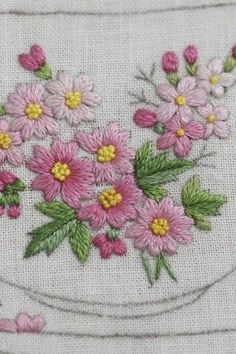 Marvelous Crewel Embroidery Long Short Soft Shading In Colors Ideas. Enchanting Crewel Embroidery Long Short Soft Shading In Colors Ideas. Herb Embroidery, Hand Embroidery Projects, Floral Embroidery Patterns, Hand Embroidery Videos, Hand Embroidery Flowers, Embroidery Works, Silk Ribbon Embroidery, Hand Embroidery Designs, Embroidery Techniques