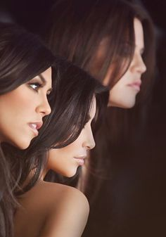 Kourtney, Kim and Klhoe Kardashian. I don't care what you say they're gorgeous.