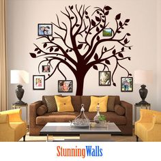 Family Tree Wall Decal  Photo Frame Family Tree by StunningWalls