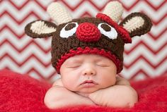 Newborn Crochet costume deer Outfit Hat  Set Photo Props on Etsy, $12.95