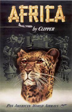 #Africa Vintage Travel Poster