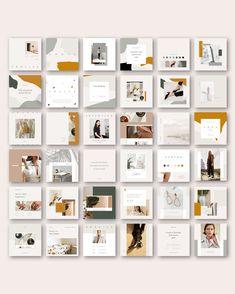 The Auburn Social Media Pack is created in both Adobe Photoshop and Adobe Indesign. Mise En Page Portfolio, Fashion Portfolio Layout, Portfolio Design, Layout Design, Web Design, Banner Design, Feeds Instagram, Instagram Grid, Instagram Design