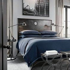 Navy Bachelor Pad Bedroom Accessories For Men ideas for men bachelor pads interior design 80 Bachelor Pad Men's Bedroom Ideas - Manly Interior Design