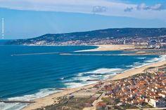 Figueira da Foz huge sandy beach, Portugal