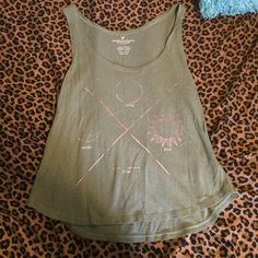 """American Eagle Tank """"Life Moon Sun Time"""" only worn once. Perfect condition. Size XS-S (fits more like a S). Every purchase receives a free gift❤️ American Eagle Outfitters Tops Tank Tops"""