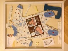 Baby Shadow Box. Have to do this for the boys.