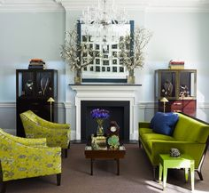 chartreuse color room designs/images | chartreuse living room Fall Color Report: Bright Chartreuse