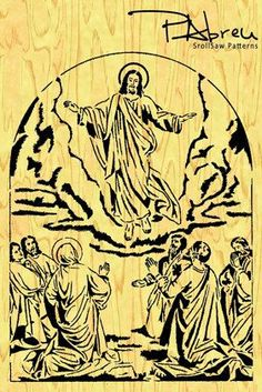 The ASCENSION of OUR LORD Scroll saw pattern by PabreuWoodworking, €5.00: