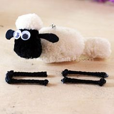 Learn to make Pom Pom Sheep, Shaun The Sheep, using pom pom maker. Adapt the same method to make other sheep to complete the flock. – Page 2 of 2