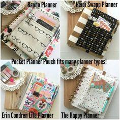 Floral Stripes Pocket Planner Bag Planner Band by simbiosisbyjulia
