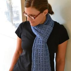 Check out Reversible Rib and Lace Scarf (Free) at WEBS | Yarn.com.