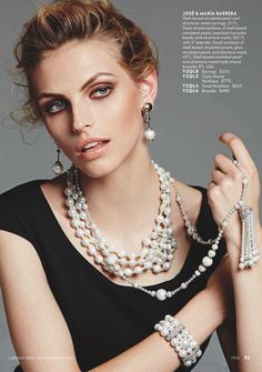 Neiman Marcus Cataloge tear sheets with Jose and Maria Barrera jewelry Starburst Earrings, Gold Statement Earrings, Beaded Jewelry, Jewelry Necklaces, Beaded Necklace, Bead Jewellery, Neiman Marcus, Jewelry Editorial, Long Pendant Necklace