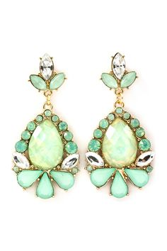 Mint Elizabeth Earrings.