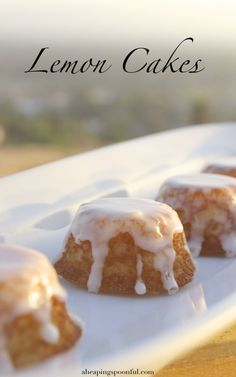Game of Thrones Lemon Cakes. Sansa Stark's favorite.