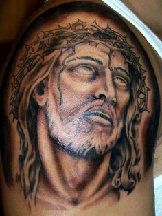 What does jesus tattoo mean? We have jesus tattoo ideas, designs, symbolism and we explain the meaning behind the tattoo. Jesus Tattoo, Tattoos With Meaning, Portrait, Design, Ideas, Brazil, Meaning Tattoos, Men Portrait, Meaningful Tattoos