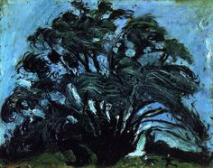 Chaim Soutine. 'Tree in the Wind'. Oil on canvas. 1935.