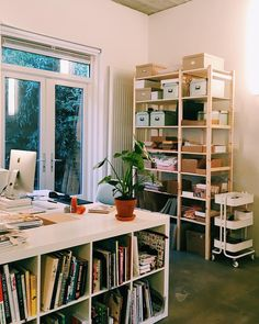 "4,049 Gostos, 22 Comentários - Bodil Jane (@bodiljane) no Instagram: ""We did a huge studio reorganization / redecoration✨this is my corner with a lot of new stuff (new…"""