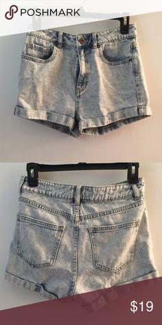 High Waisted Jean Shorts Light wash PacSun Shorts Jean Shorts
