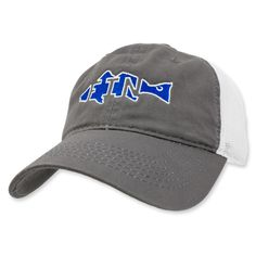 Carolina Fin Fish Adjustable Hat - Gray