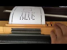 Homemade Punch Card For Standard Gauge Knitting Machine Hōseki Kitsune - YouTube