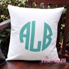 Image result for monogrammed pillow