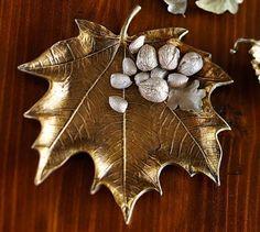 Cast Leaf Serving Platter by Pottery Barn, $35. potterybarn.com