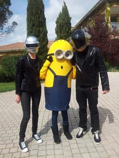 Minion with Daft Punk!  #Get Lucky,  #Happy ;) Costume homemade / fait maison                                    ~ Carnaval ~