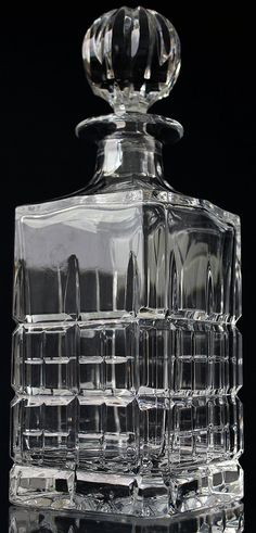 Crystal Whiskey Decanter Cut Glass Liquor Decanter / Scotch Barware Bar Cart Accessories Home Bar Whiskey Decanter Set Whisky