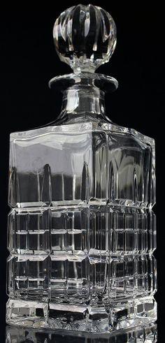 Crystal Whiskey Decanter Cut Glass Liquor Decanter / Scotch Barware Bar Cart Accessories Home Bar Whiskey Decanter Set Whisky