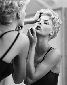 "Model Linda Evangelista, photographer Steven Meisel for Dolce and Gabanna's ""Love"" collection, Spring/Summer 1991"