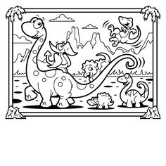 Printable Dinosaur Coloring Pages With Names Dinosaurs