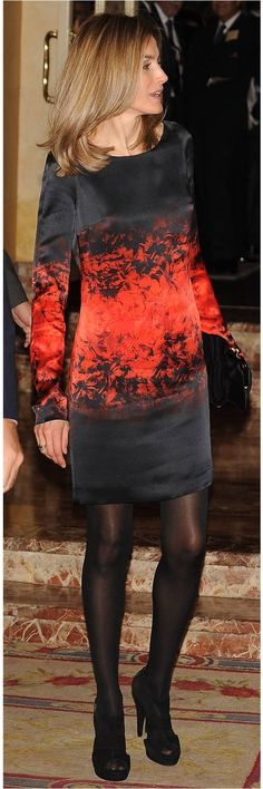 The Queen is stunning. Love the look of high quality hosiery, too.