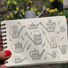 Day 10 of #The100DayProject  Watering can. #100DaysOfDrawingThingsInDifferentVariations