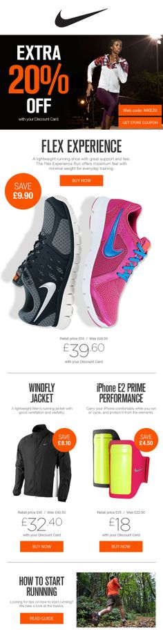 Nike promotional email on Behance