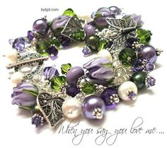 When You Say You Love Me Lampwork Bracelet - Custom bylgd.com
