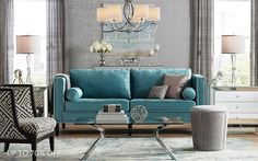 Save up to 70% off luxurious designer inspired furniture, lighting and home decor  in our upscale furnishings event.