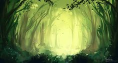 Enchanted Forest Speedpaint by PuccaNoodles2009