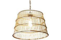 Antique Mussel Basket Light-A Beautiful Mess= 325.00