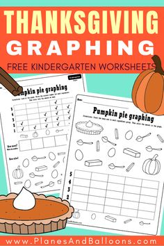 Free printable THANKSGIVING kindergarten activities for your math centers or Thanksgiving lesson plans. These Thanksgiving math kindergarten worksheets teach reading and making graphs. Add them to your FALL worksheets for kindergarten this year. #thanksgiving #graphing #mathworksheets #kindergarten #fallworksheets #holidaymath