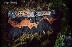 Ganesh Mini Skirt Gypsy Nomad Jungle Tribal Leather by SigaTribal