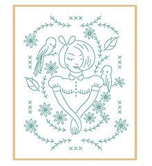 DREAM GARDEN Wall Hanging ny Sublime Stitching. Super cute