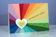 rainbow card - lovely