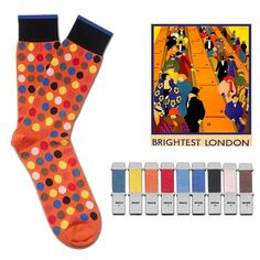 Not in the Mood? Wanna Find Inspiration? See how Fortis Green turned art deco posters into luxury socks! #socks #inspiration