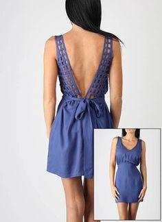 in love with this dress.. never know what kind of bras you wear with dresses/shirts with backs like this, though.
