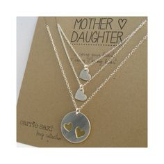Mother Daughter Necklace Set  mother 2 daughters  by carriesaxl