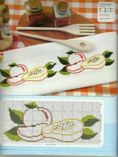 This Pin was discovered by Gül Cross Stitch Borders, Cross Stitch Flowers, Cross Stitch Designs, Cross Stitching, Cross Stitch Patterns, Hand Embroidery Art, Cross Stitch Embroidery, Cross Stitch Kitchen, Rico Design