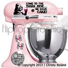 Love this! Just not a fan of the pink! Cupcakes Star Wars Inspired Graphic for Kitchen Mixer on Etsy, $37.03 CAD