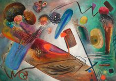 Heavy and Light (1921) - Rudolf Bauer